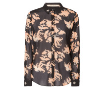 Bluse aus Chiffon mit floralem Muster