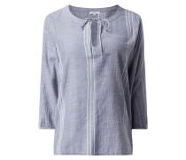 Blusenshirt aus Baumwolle mit Webmuster