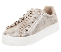 Slip-On Sneaker in Metallicoptik