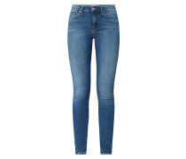 Skinny Fit Jeans mit Stretch-Anteil Modell 'Como'