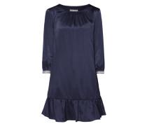 Kleid aus Satin mit Volantsaum