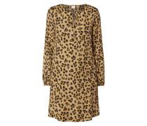 Kleid aus Viskose-Seide-Mix
