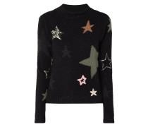Pullover aus Schurwolle mit Sternenmuster