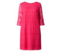 PLUS SIZE - Kleid aus Lochspitze mit Trompetenärmeln