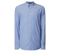 Regular Fit Hemd mit Button-Down-Kragen
