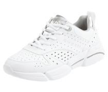 Sneaker mit perforiertem Muster