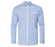 Slim Fit Freizeithemd mit Kontrastbesatz aus Mesh