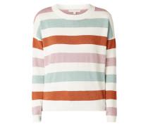 Pullover mit Streifenmuster und Effektgarn