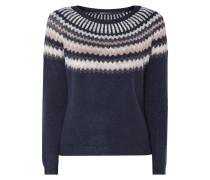 Pullover mit Ikatmuster