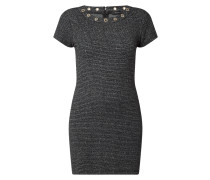 Kleid mit Effektgarn und Ösen