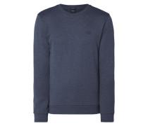 Sweatshirt in Melangeoptik