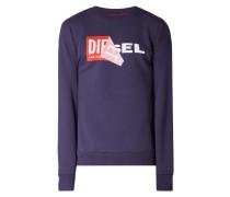 Sweatshirt mit Logo-Print und Aufnäher