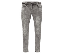Acid Washed Slim Fit 5-Pocket-Jeans