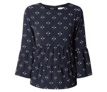 Blusenshirt aus Krepp mit Allover-Muster