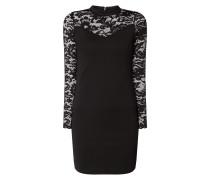 Kleid mit Einsatz aus floraler Spitze