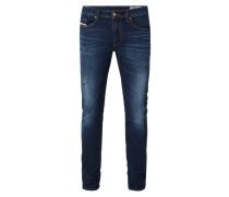 Slim-Skinny Fit Jeans im Used Look
