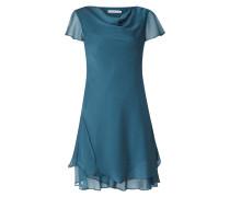 Kleid mit Wasserfallausschnitt