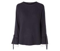Pullover mit Kontraststreifen aus Effektgarn