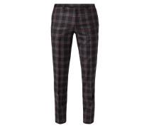 Extra Slim Fit Anzug-Hose mit Karomuster