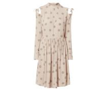 Cold-Shoulder-Kleid mit Schnürungen