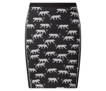 Rock aus Scuba mit Animal-Print