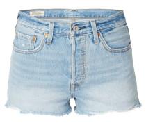 5-Pocket-Jeansshorts im Used Look