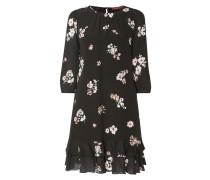 Kleid aus reiner Seide mit floralem Muster
