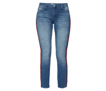 Skinny Fit Jeans mit Kontraststreifen