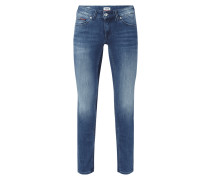 Stone Washed Low Rise Skinny Fit Jeans