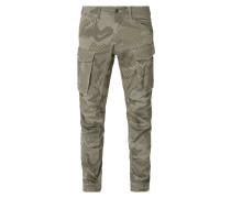 Renewed Tapered Fit Cargohose mit Camouflage-Muster