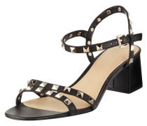 Sandaletten aus Leder mit Nietenbesatz