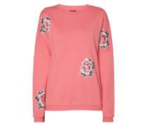 Sweatshirt mit floralen Aufnähern