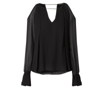 Cold Shoulder Blusenshirt aus Krepp