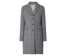 Mantel aus Wollmischung mit Glencheck