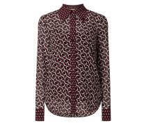 Bluse aus Krepp mit grafischem Muster