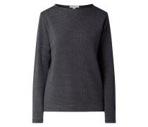 Sweatshirt mit Hahnentritt-Dessin