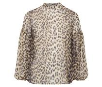 Blusenshirt aus Chiffon mit Leopardenmuster