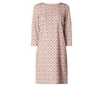 Kleid mit Allover-Muster Modell 'Cieast'