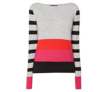 Pullover mit wechselndem Streifenmuster