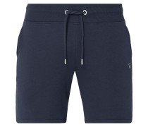 Sweatshorts mit Logo-Stickerei