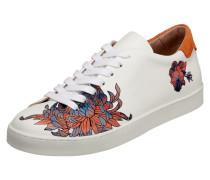 Sneaker aus Leder mit floralem Print