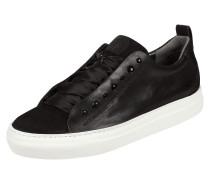 Sneaker aus Veloursleder und Leder