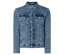 Jeansjacke mit Label-Patch