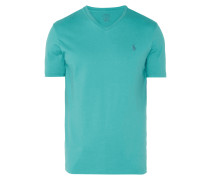 Custom Slim Fit T-Shirt mit V-Ausschnitt