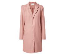 Mantel mit verdeckter Druckknopfleiste