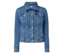 Jeansjacke mit Schluppe
