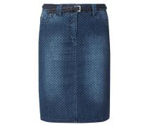 5-Pocket-Jeansrock mit Punktemuster