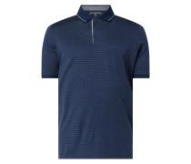 Poloshirt mit Webmuster