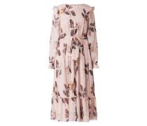 Kleid aus Chiffon mit Effektgarn