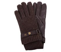 Woll-Handschuhe mit Lederbesatz
